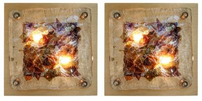 Venini Glass Sconces